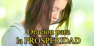 Oración para la prosperidad