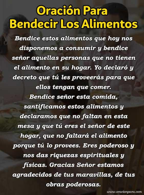 oracion-para-bendecir-los-alimentos