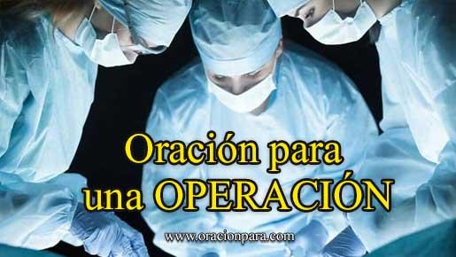 Oración para una operación