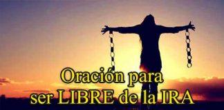Oración para ser libre de la ira