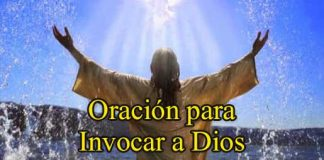 Oración Para Invocar A Dios