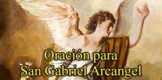 Oración A San Gabriel Arcángel