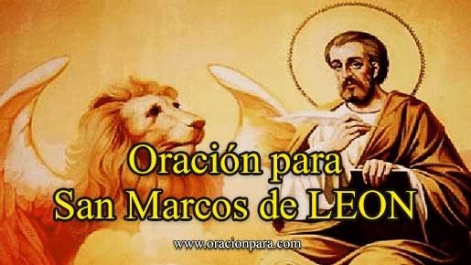 Oración A San Marcos De León