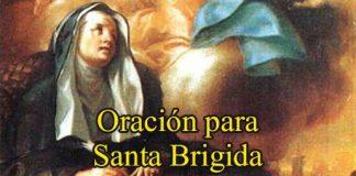 Oración A Santa Brígida