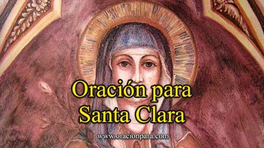 Oración A Santa Clara