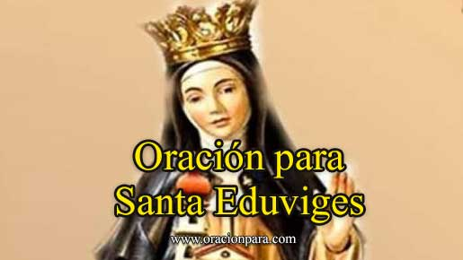 Oración A Santa Eduviges