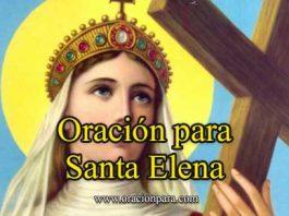 Oración A Santa Elena