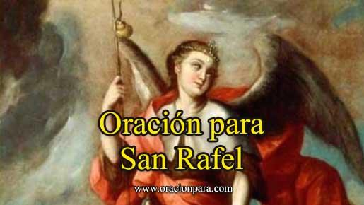 oración a San Rafael
