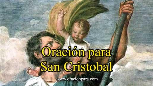 Oración a San Cristóbal
