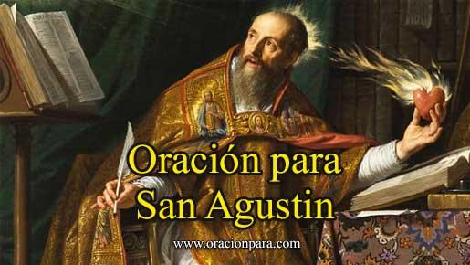 Oración A San Agustín