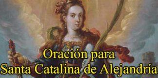 Oracion a Santa Catalina de Alejandría
