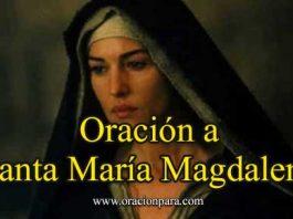 Oración a Santa María Magdalena