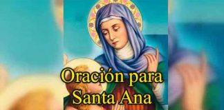 oración a Santa Ana