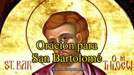 oración a San Bartolomé