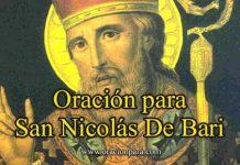 Oración A San Nicolás
