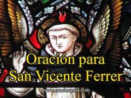 Oración A San Vicente Ferrer