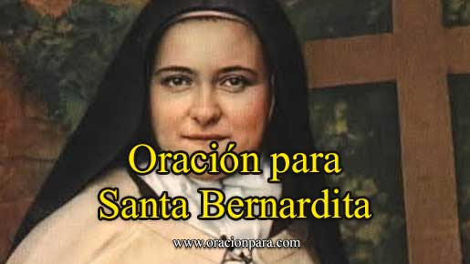 Oración A Santa Bernardita