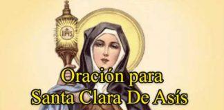 Oración A Santa Clara De Asís