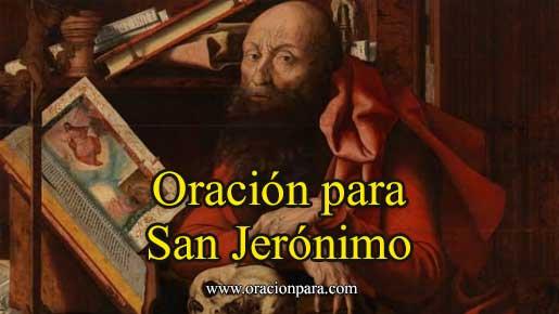 Oración a San Jerónimo
