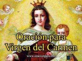 Oración a la Vírgen del Carmen