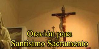 Oración al Santísimo Sacramento