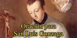 oración a San Luis Gonzaga