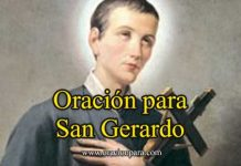 Oración A San Gerardo