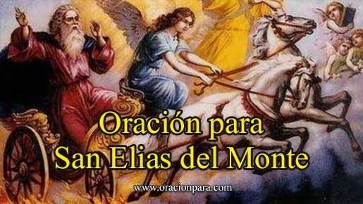 Oración a San Elías Del Monte