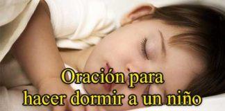 Oración para hacer dormir un niño