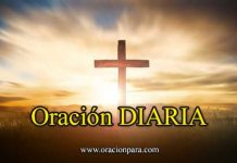 oración diaria en dia especiales