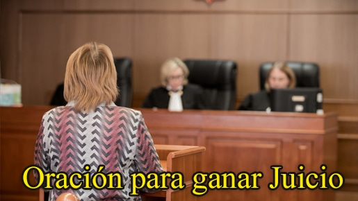 oración para ganar juicio